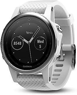Garmin fēnix 5s 高级,坚固耐用的小型多运动GPS智能手表,白色,42毫米(010-01685-00)