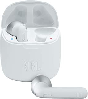JBL Tune 225 TWS 入耳式耳机 - 真正的无线耳机,带充电盒电池续航时间长达 25 小时,通过 JBL Pure Bass 声音感受音乐 白色