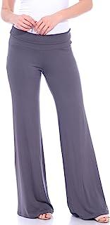 Popana 女式休闲阔腿喇叭印花阔腿裤,美国制造