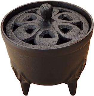 Iwachu 岩铸 香炉 花瓣造型 黑色 直径8.5厘米×高9厘米 南部铁器 29206