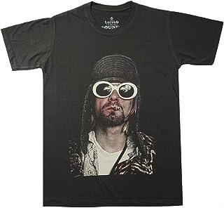 Lectro 男式 Kurt Cobain 经典摇滚乐队歌手 Nirvana T 恤