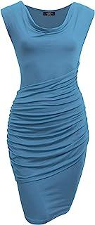 MBJ 女士无袖双层长裙 - 美国制造