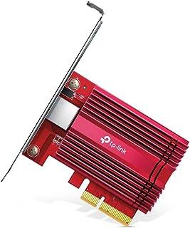 TP-Link Archer TX401 10 Gbps 蓝牙 5.0 PCIe 适配器(CAT6A 以太网通道,散热器,兼容Windows 10 / 8.1 / 8/7,Windows 服务器和 Linux,节省空间)红色