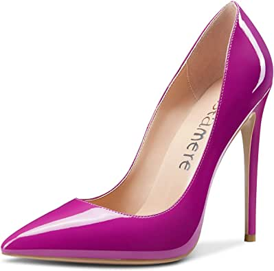 CASTAMERE 女式天空高跟鞋基本款高跟鞋尖头细高跟 12 厘米鞋跟