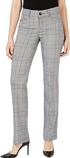 LEE 女式 10X33 格子印花长裤 弹力裤