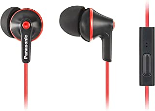 Panasonic Ergofit in-Ear Earbud Headphones 耳道式/ 入耳式 黑色RP-TCM125-KB 带麦克风 S/M/L Included