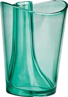 QUALY 牙刷架 牙膏杯 翻盖杯 *QL10094GREEN 直径8x高10.5cm