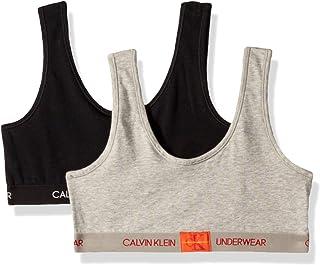 Calvin Klein 时尚现代款女童小号内衣,2件装