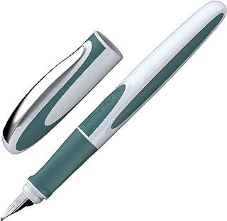 Schneider 施耐德 Ray 钢笔(左利手钢笔 含 皇家蓝标准墨盒) 1 支装 右撇子 Rechtshänder Teal