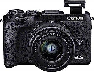 Canon 佳能 EOS M6 Mark II 系统摄像头(32.5 万像素,7.5 厘米(3.0 英寸)触摸屏,数字 8 4K 视频,WLAN,蓝牙),黑色3611C012 mit EF-M 15-45mm f/3.5-6.3 IS STM ...