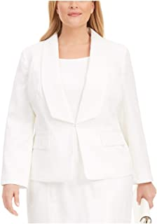 Kasper 女式象牙色动物印花西装外套上班夹克尺码 22W