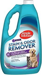 Simple Solution 宠物污渍和*剂 | 酶清洁剂带 2X 专业*清洁剂 128 oz Refill
