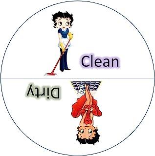 原装 BETTY BOOP 清洁脏洗碗机磁铁。 可粘在任何表面! 一个有趣的方式来制止这些令人沮丧的洗碗机中雾化剂! * 美国纯手工制造。 白色。