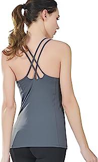 女式健身上衣瑜伽无缝舒适吊带背心运动衫