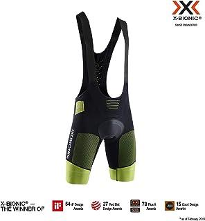 X-Bionic 男式 Effektor 4.0 自行车加垫围嘴短裤