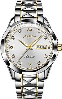 OLEVS 机械手表 男式自动腕表 Slef-Wind 奢华不锈钢防水夜光手表