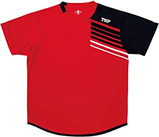 TSP乒乓球 男女兼用 运动衬衫 TT-190衬衫 红色 XXXXL