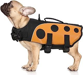 狗狗*漂浮浮浮保护背心可调节救援手柄瓢虫宠物救生犬救生衣适合小型/中/大型犬