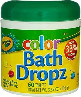 Crayola Color Bath Dropz 60 片装 3.59 盎司罐(3 瓶装)