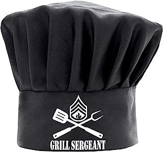 男士厨师帽趣味黑色,烧烤士官员烹饪帽子可调节厨房厨师帽,适合父亲节、圣诞节的礼物