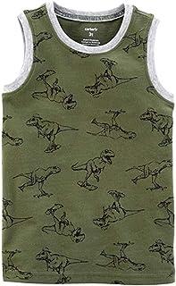 Carter's 卡特男婴恐龙针织背心,橄榄色,3 个月