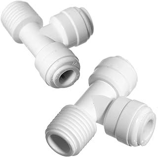 iSpring 7544KX2 T-Splitter 0.64 cm NPT 螺纹和 0.64 cm 快速连接配件,2 件装
