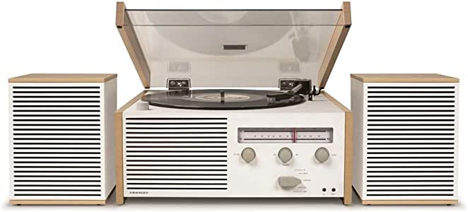 Crosley Switch II 蓝牙电唱机 复古设计 带FM / AM 收音机和外置扬声器