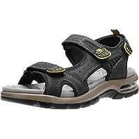 CAMEL CROWN 男式皮革凉鞋,适合徒步、沙滩、跑步、水上运动、户外,高级气垫| 防水
