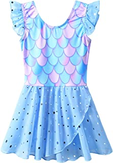 BAOHULU 女孩紧身舞蹈短袖水钻芭蕾舞短裙,3-8 岁