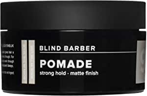 Blind Barber 90 防发油 - 男士哑光造型发油 - 强力定型,天然表面纹理膏 带啤酒花和东卡豆 - 水性,不含油脂油(2.5 盎司/70 克)