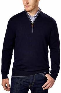 Kirkland Signature Men's Extra Fine Merino Wool ¼ Zip Sweater