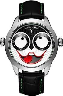 男士手表石英防水手表 Joker 时尚设计 不锈钢皮革表带腕表 男式