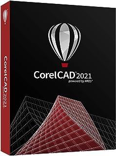 CorelCAD 2021 | CAD 软件| 2D 绘图,3D设计,& 3D打印[PC/Mac Disc]|2021|1设备|花瓣|PC/MAC|光盘。