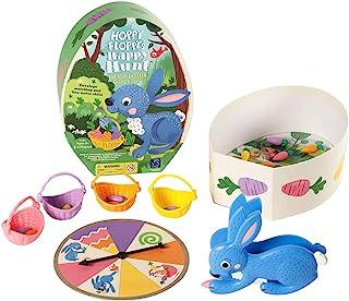 Educational Insights Hoppy Floppy快乐狩猎| 配对和精细运动技能学龄前棋盘游戏| 适合2-4位玩家| 3岁以上儿童