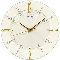 Seiko 精工 时钟 挂钟 电波 模拟 奶油光泽 KX214C SEIKO