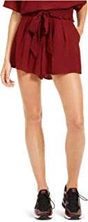 Michael Kors 迈克·科尔斯 女式 Mini Mod Dot 系带腰短裤,Dark Brandy/Black, 6