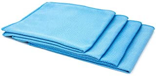 [钻石玻璃] 超细纤维窗户和铬毛巾(40.64 厘米 x 40.64 厘米) - 4 件装 蓝色 TD305x-4