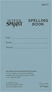School Smart Blank Spelling Books - 24 Pages - 4 x 7 inches - Pack of 12