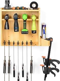 电动工具收纳架,无绳钻孔充电站支架,F 夹平行夹杆夹,壁挂式工具,车库收纳架(需要组装)