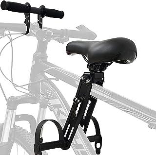 Qikour 自行车儿童座椅和车把配件,前部安装自行车鞍座适用于 2-5 岁的儿童(*多 45 磅),兼容所有成人 MTB ,易于安装和拆卸