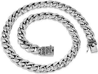 高档链式 925 纯银男士项链