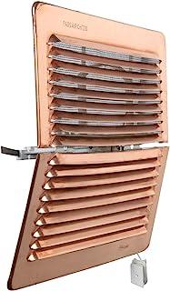 La Ventilation LADFR2323RA 通风格栅 方形可折叠铜材质 带昆虫网 尺寸 228 × 228 毫米