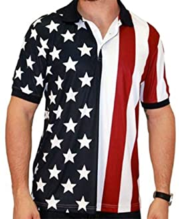 Performance Golf 美国国旗衬衫