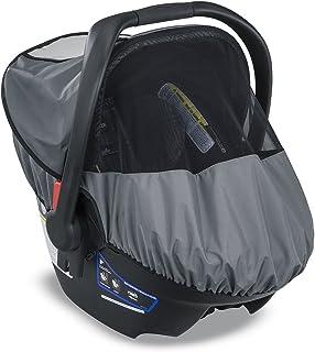 Britax B-Cover全天候婴儿汽车座椅套 UPF 50+ | 防水防雨防风罩 + 透气网眼窗,用于防昆虫