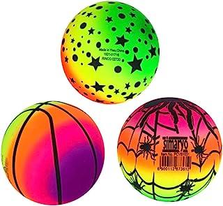 VOSAREA 3 件彩虹球渐变运动儿童玩具沙滩球手球适用于室内游乐场室外