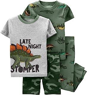 Carter's 4 件套恐龙 * 舒适贴合棉质睡衣(12 个月)*