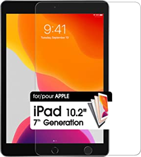 Cellet 钢化玻璃平板电脑屏幕保护膜 9H 硬度超薄防碎 兼容 iPad 7 代 10.2 英寸