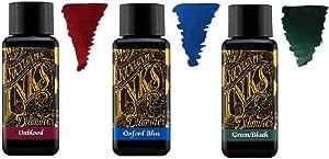 Diamine - 30ml 钢笔原色墨水 - 3 支装 - 深蓝色 & 牛津蓝 & * 黑色