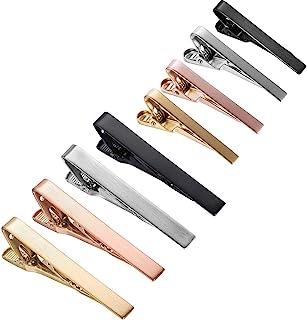 HAWSON 8 件男士领带夹 3.81 厘米 + 5.64 厘米拉丝领带夹不锈钢领带夹礼品套装