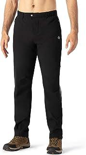 Naviskin 男式抓绒户外裤防风自行车骑行裤运动运动裤 带拉链口袋